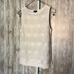 Talbots Cream Linen Knitted Sleeveless Top
